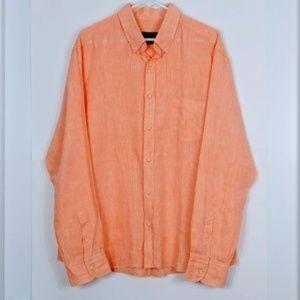 Massimo Dutti 100% Linen Button Down Shirt